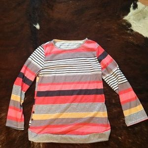 Tops - Colorful striped long sleeve blouse